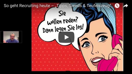 """Webinar: So geht Recruiting heute – """"Tipps, Trends & Teufelszeug"""""""