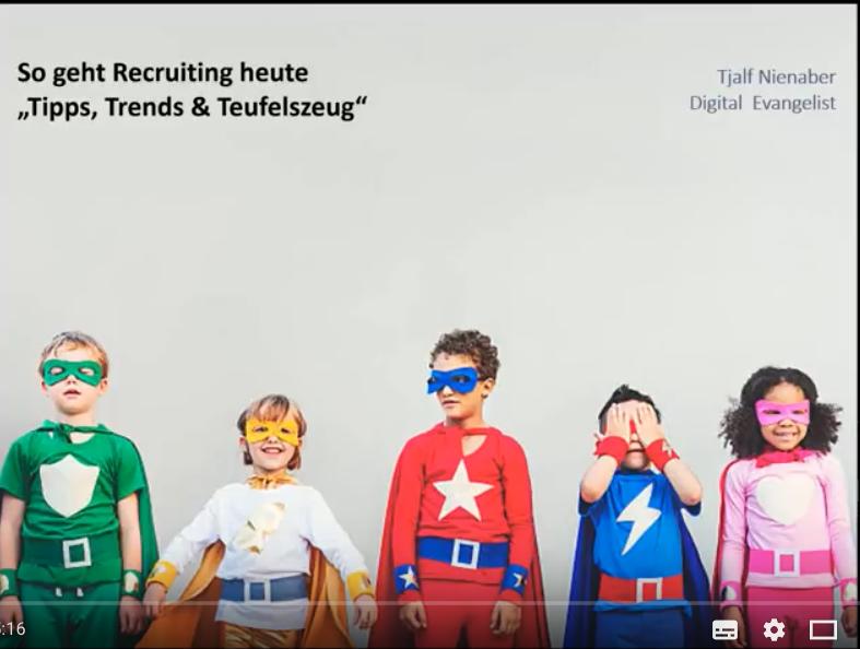 """Webinar: Recruiting 4.0 """"Tipps, Trends & Teufelszeug"""""""