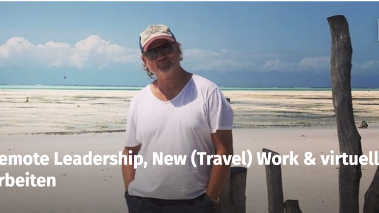 Webinar: Remote Leadership, New (Travel) Work & virtuelles Arbeiten